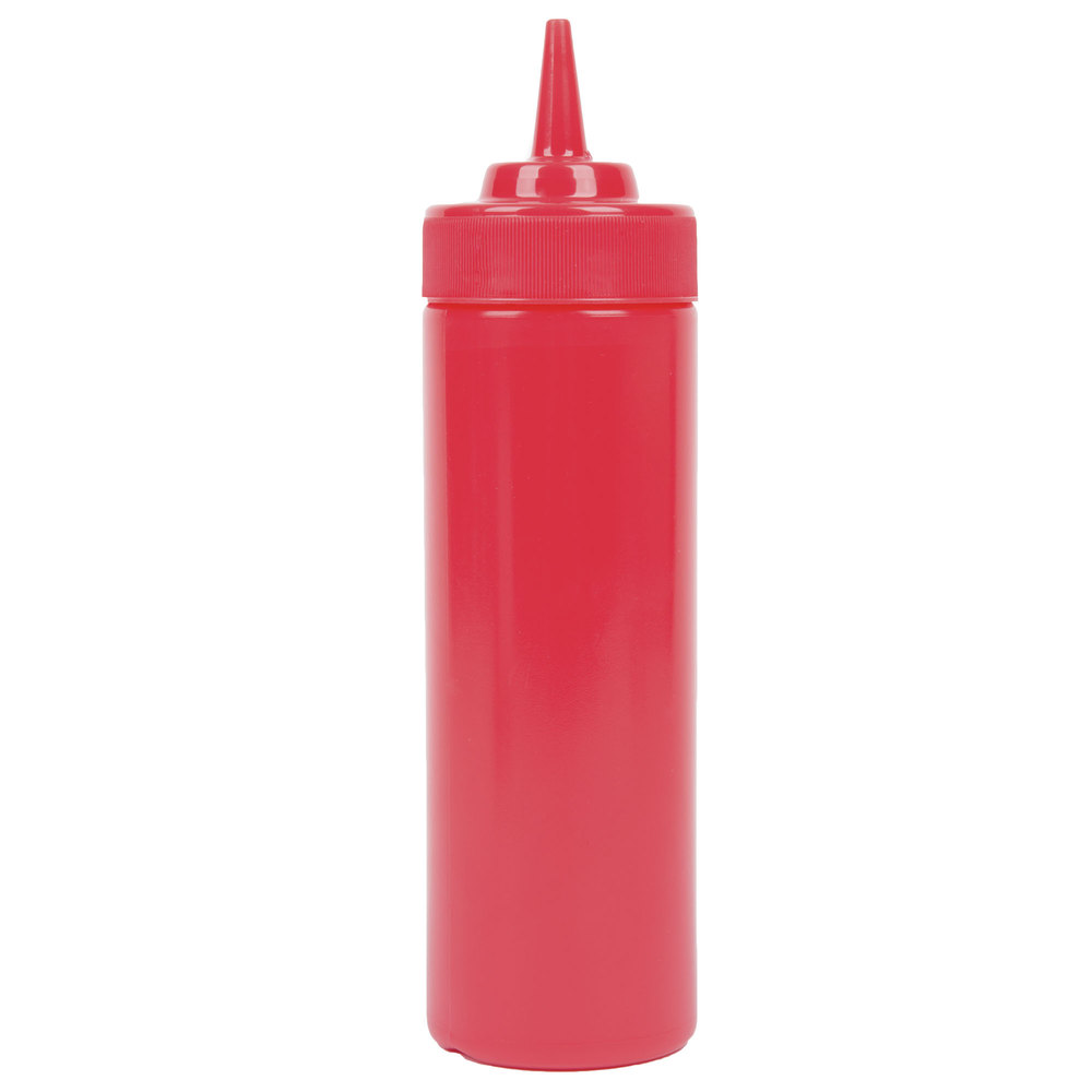 12oz Red Squeeze Bottle With Wide Mouth in from Simplex Trading ...