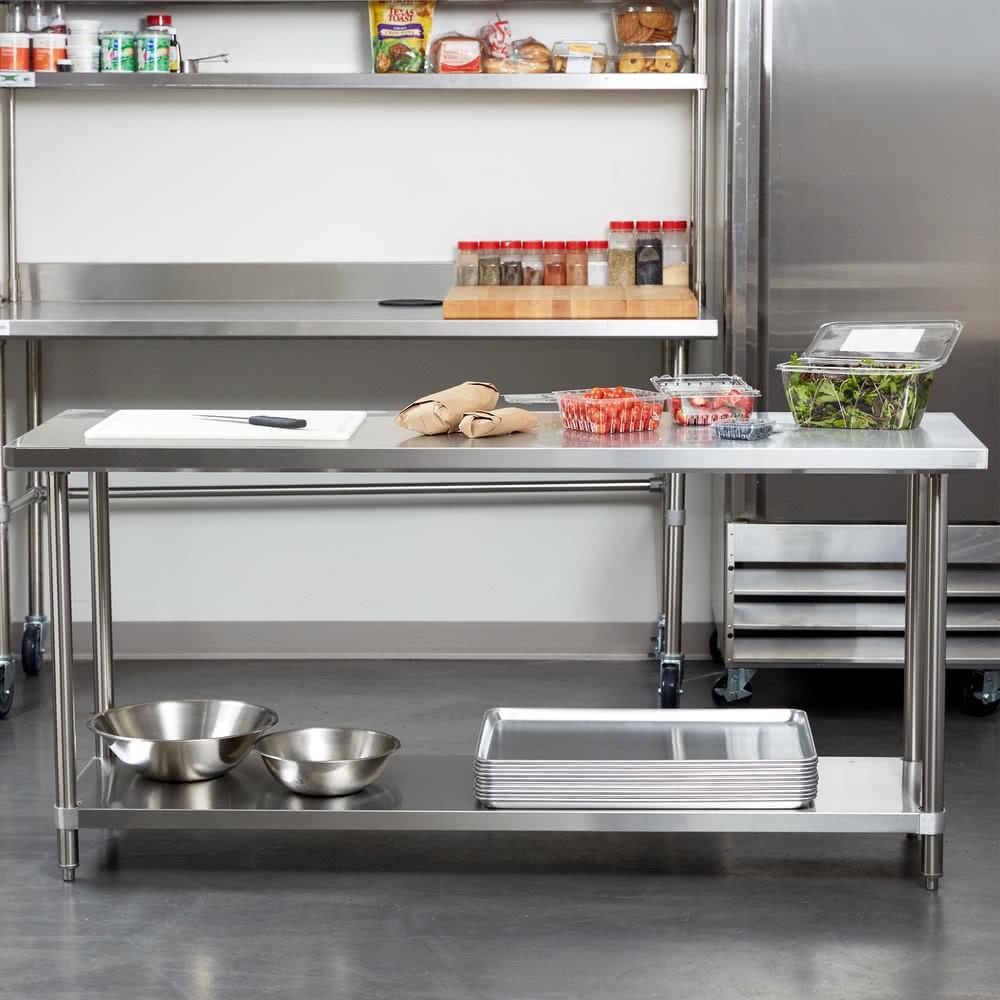 24 X 60 Stainless Steel Work Table With Undershelf In Stainless Steel Work Tables From Simplex Trading Household Restaurant Kitchen Supplies