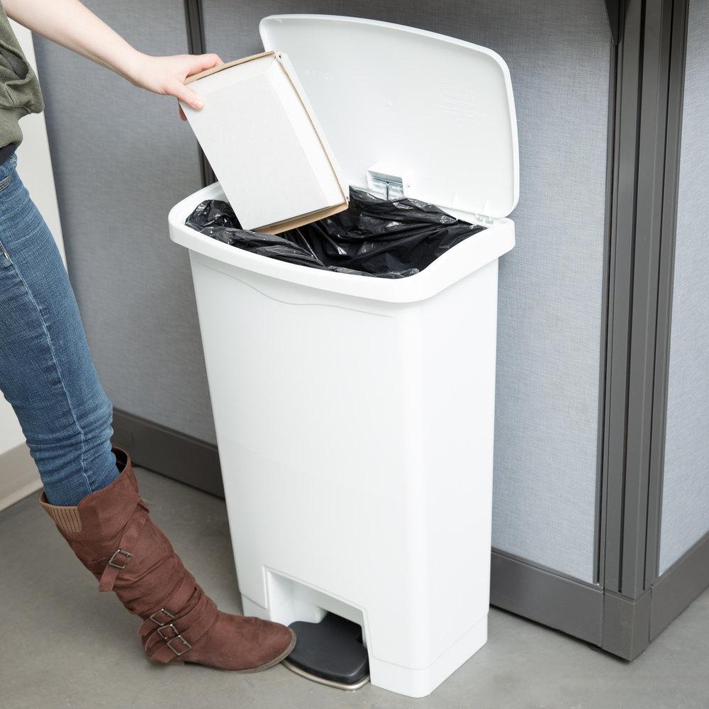 Step On Garbage Bin White