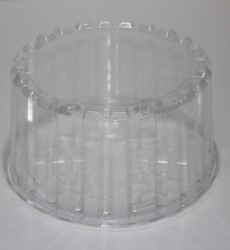 "10"" Deep Clear Plastic Cake Containers"