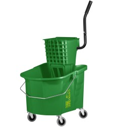 35 Qt Green Splash Guard Combo With Wringer