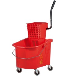 35 Qt Red Splash Guard Combo With Wringer