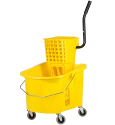 35 Qt Yellow Splash Guard Combo With Wringer