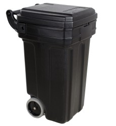 Black Tilt 'N Wheel Receptacle