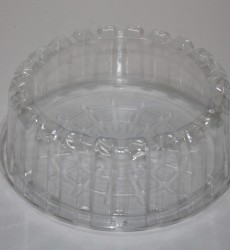"7"" Shallow Plastic Cake Containers"