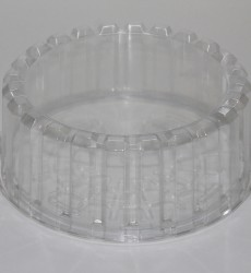 "8"" Shallow Plastic Cake Containers"