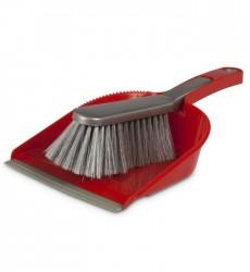 Tonkita Dustpan & Broom Set Red & Grey