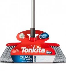 Tonkita Dual Indoor Broom With Adj Handle